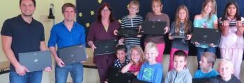 Weber Gruppe spendet mit Freuden Laptops für schulische Ausbildung