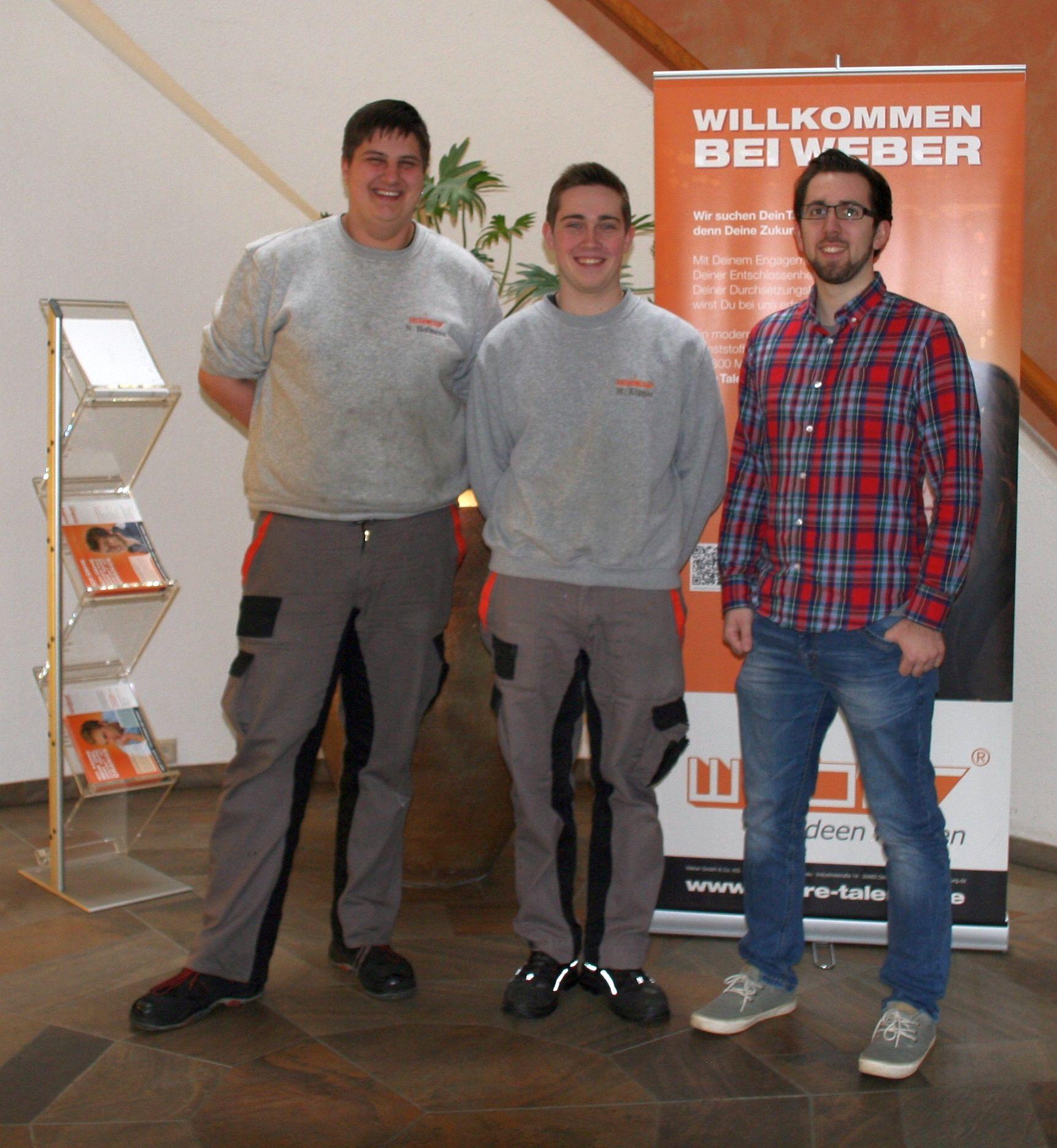Von links: Nils Hofmann, Max Philipp Köpper, Daniel Kusterer
