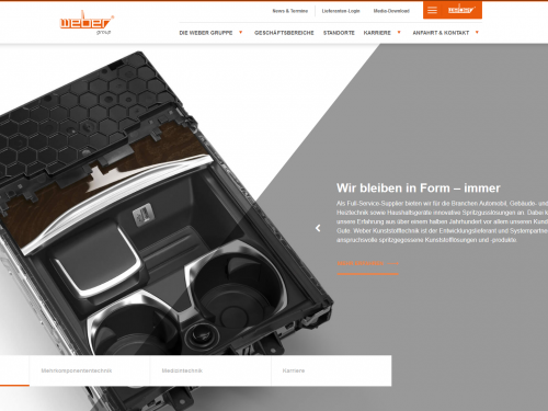 Neue Weber Website