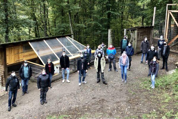 Azubi-Projekttag im Wildpark Donsbach